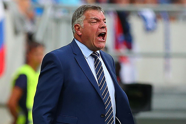 Sam Allardyce at the World Cup qualifier between Slovakia and England earlier this month (© McManus/BPI/REX/Shutterstock)