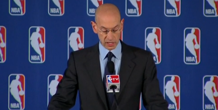 Adam Silver holds a press conference.
