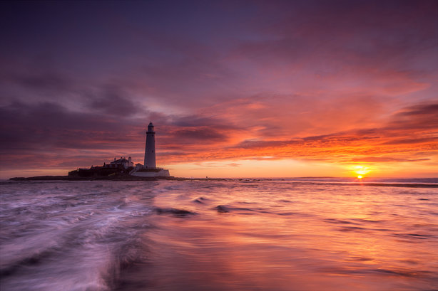 This picture of St Mary's Lighthouse was the most shared during the council's '100 things' campaign