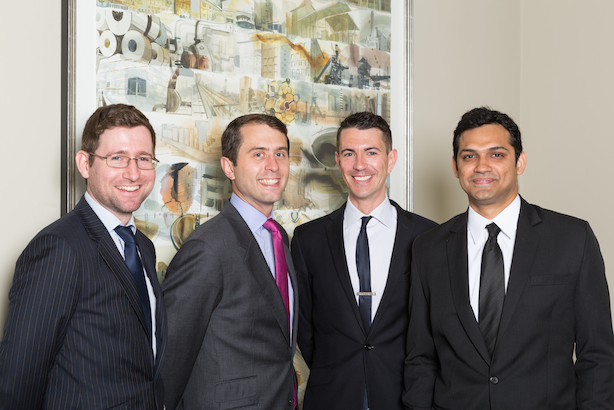 Tata's new corporate team (l-r): Meehan, Ehmann, Barriball and Khera