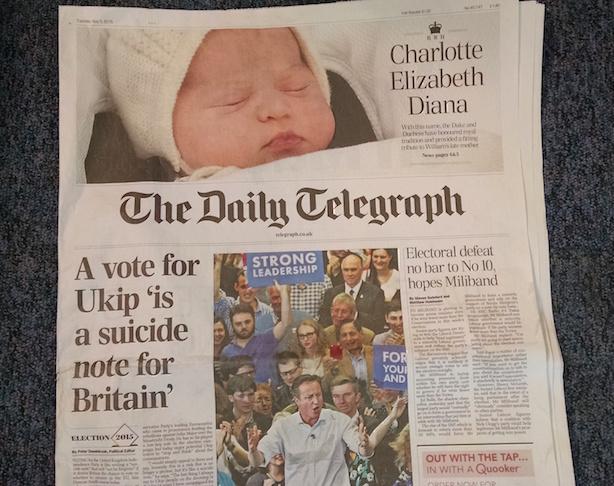The Telegraph: Ironic juxtaposition