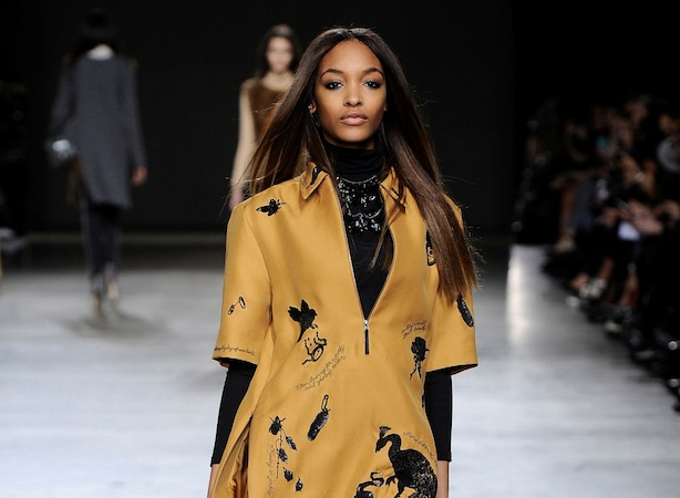 A model on the catwalk at Topshop's Tate Modern show