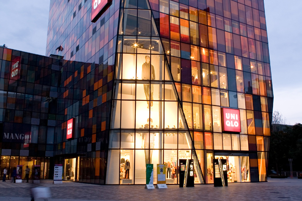 Uniqlo's outlet in Sanlitun, Beijing where the video was reportedly filmed