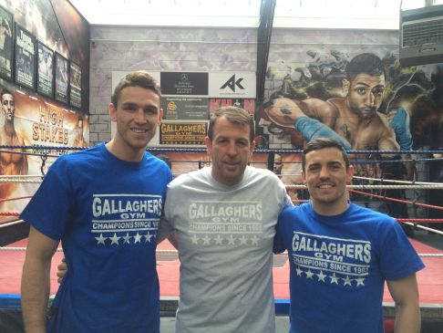 Preparing for a big summer: Callum Smith, Joe Gallagher and Anthony Crolla