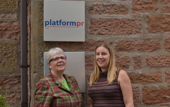 Acquisition: Jane Cumming of Platform PR (left) and Muckle's Nathalie Agnew