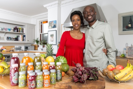 Patience and Andrew Mugadu with the Vegesentials range