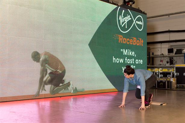 Usain Bolt: in virtual form for Virgin Media's Commonwealth Games experiential activity