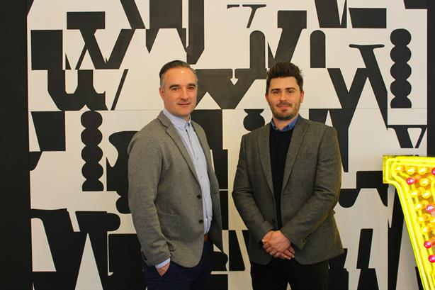 Acquisition: Glue PR's Christian Cerisola (left) with Richard Tompkins of W
