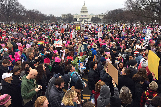 Protesters take to the streets in Washington as part of the global women's march in January (©ResistFromDay1, via Flickr)