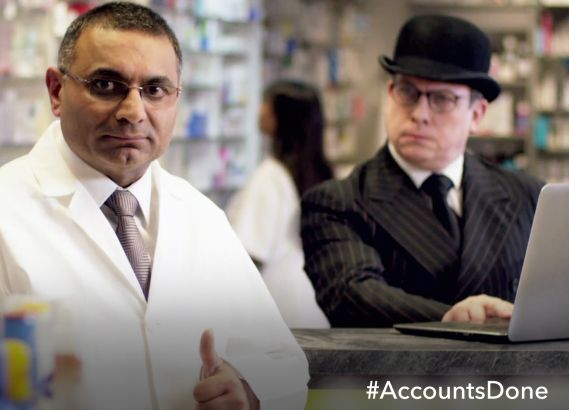 QuickBooks: B2L has created an ad for the online accountancy service