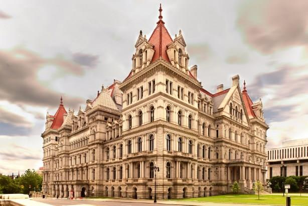 The New York State capitol building, Albany, NY. Image via Kumar Appaiah / Flickr; used under the Creative Commons Attribution-ShareAlike 2.0 Generic license. Cropped and resized from original.