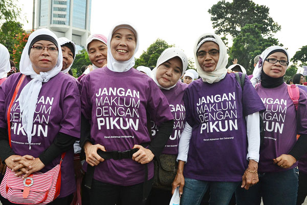 An Alzheimer's Indonesia demonstration