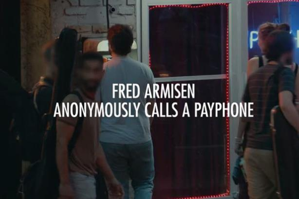 Heineken teaser: Comedian and actor Fred Armisen anonymously calls passersby on a NYC payphone