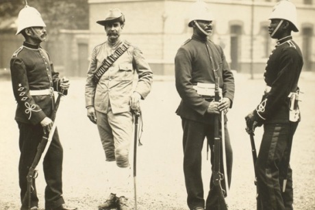 Colonial soldiers from across the Empire: An image from the museum's Commonwealth collection (credit: National Army Museum)