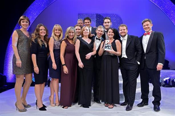 PRWeek Awards: Some of the 2014 winners with TV star James Corden