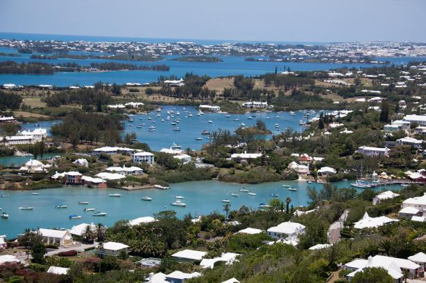 The view from Gibb's Hill Lighthouse in Bermuda