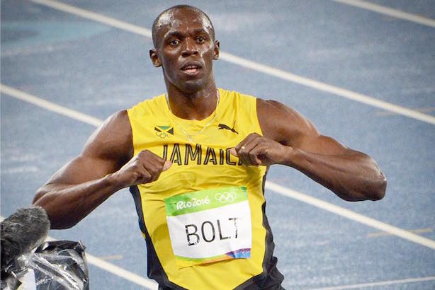 Usain Bolt won the 200 meter gold on Thursday night for the third straight Olympics. (Image via Facebook).
