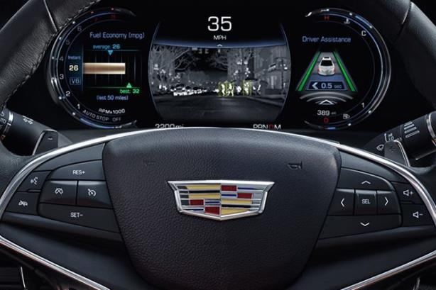 The driver's seat of Cadillac's CT6