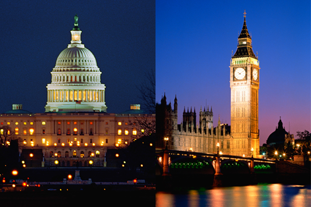McBee in DC (l) is working with London-based pair (Credit: Fuse for DC, Creatas Images for London)
