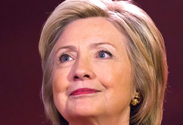 Hillary Clinton should be smiling. She just had her best two weeks of the campaign. (Image via Clinton's Facebook page).