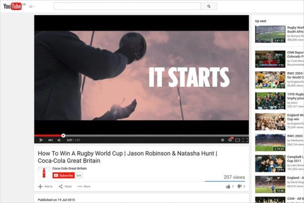 Coca-Cola's UK YouTube channel