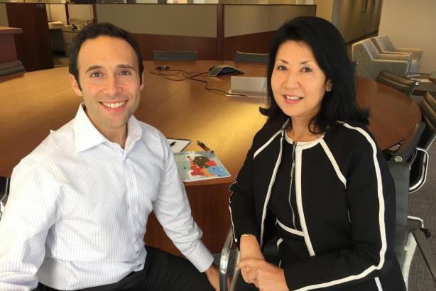 L-R: Joe Cohen and Michiko Kurahashi. (Image via Axis Capital).