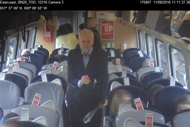 Controversy reigns over footage of Jeremy Corbyn walking past reserved seats on a Virgin train
