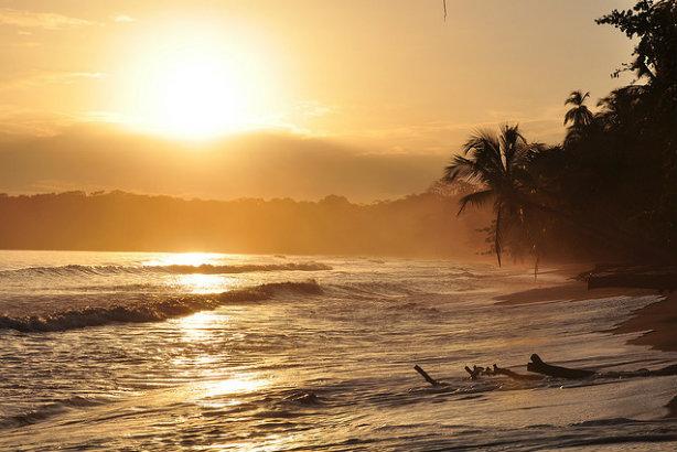 Costa Rica: Sunrise in Cahuita on the Caribbean coast (Credit: Armando Maynez via Flickr)