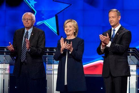 The three left standing. (Image via the DNC's Facebook page).