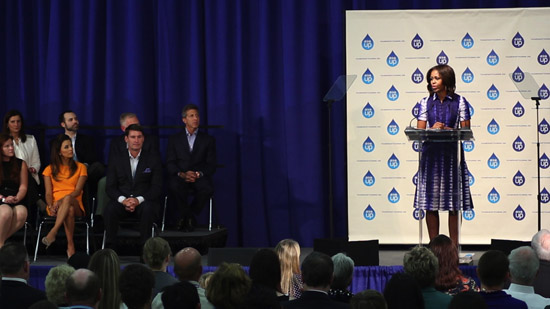 Michelle Obama announces that Nestlé Waters is a supporter of The Partnership for a Healthier America