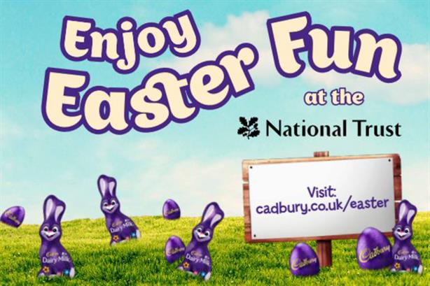 Part of a National Trust campaign poster promoting the Cadbury Egg Hunt