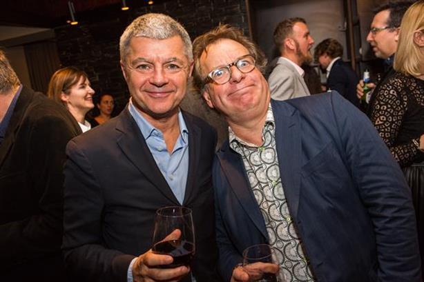 Power couple: PR legends Alan Edwards (left) and Mark Borkowski enjoy a tipple