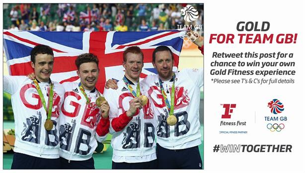 Time for more winners (Credit: @FitnessFirstUK on Twitter)