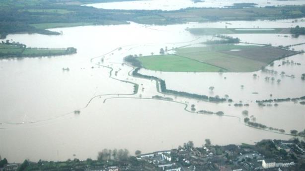 Burst banks in Arun valley, West Sussex, during flooding in 2014 (Pic credit: Environment Agency)