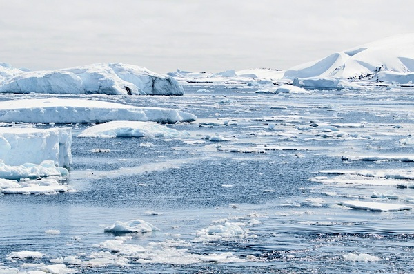 Melting ice caps in Antarctica. A new study says global warming could cost trillions to the world economy