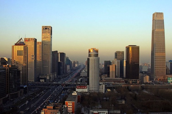 Beijing. China's services sector contracted in April. (Kentaro Iemoto/Wikimedia Commons)