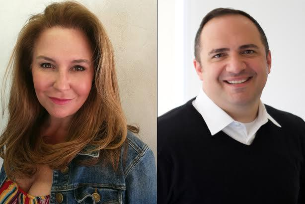 Jessica Gottlieb (L) and Aaron Sherinian