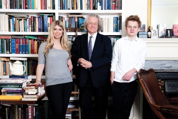 NCH: Founder Professor AC Grayling (centre) with students