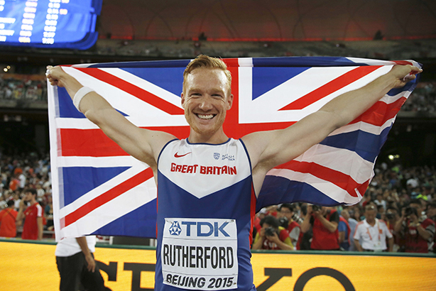 Rutherford jumped 8.41m for glory yesterday, and has 168,000 followers on Twitter