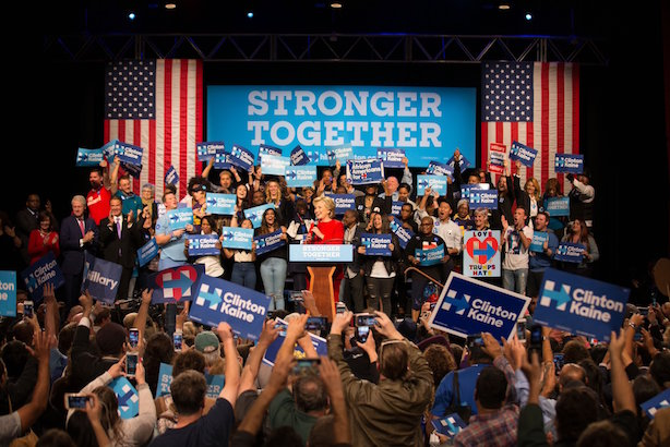 Hillary Clinton hit the campaign trail on Tuesday after her first debate against Donald Trump. (Image via Clinton's Twitter account).