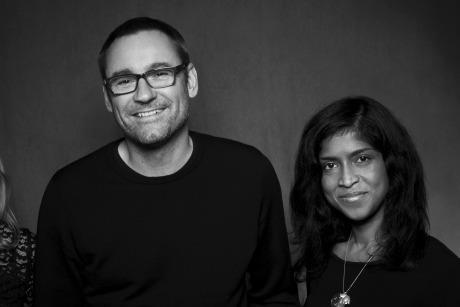 Indy Vidyalankara: Pictured with Sony Music UK chairman and CEO Jason Iley