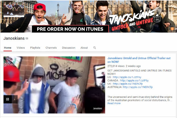 The Janoskians' move from the laptop screen to the big screen is being aided by Multitude Media