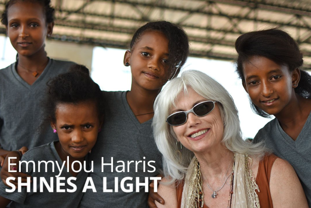 via JRS/USA Twitter, featuring one of the artists on the Lampedusa concert tour, Emmylou Harris
