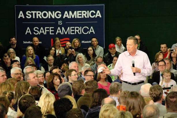 Crunch time for John Kasich. (Image via the Kasich campaign's Facebook page).