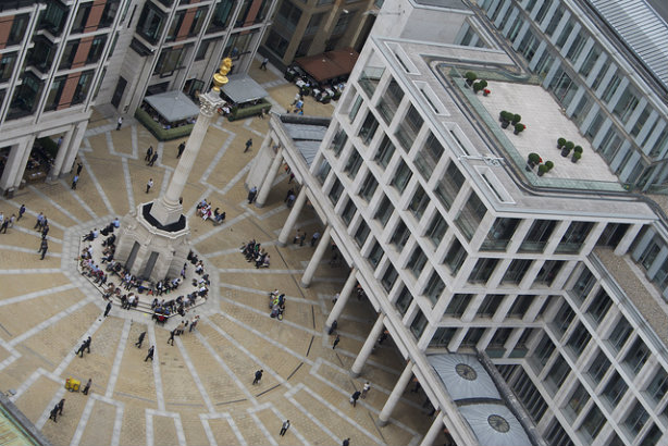 The London Stock Exchange, Paternoster Square (Credit: Elias Gayles)