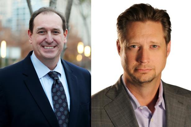 L-R: Brad MacAfee and Bill Fleishman.