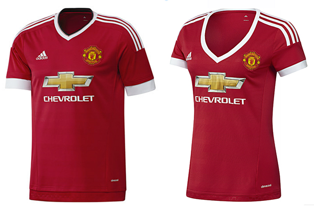 Adidas: The women's Manchester United kit sparked outrage over its low neckline