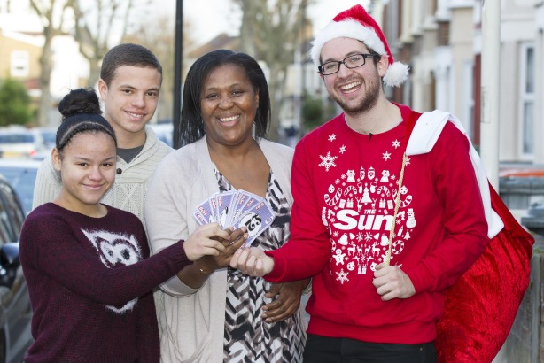 Marcia Young: is the fourth person to recieve a cash prize from the Spread the Joy campaign