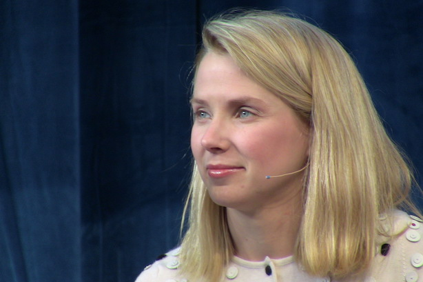 "Yahoo's Marissa Mayer. (Image via Jolie O'Dell, ""Marissa Mayer at Chirp"" at Flickr)."