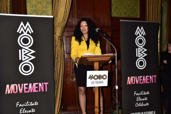 MOBO CEO Kanya King: Pictured at the Movement's launch in the House of Commons